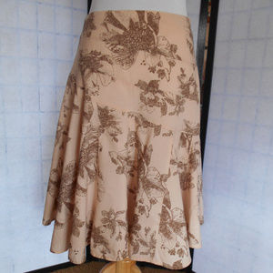 A.N.A. Floral Lined  Skirt Size 8P